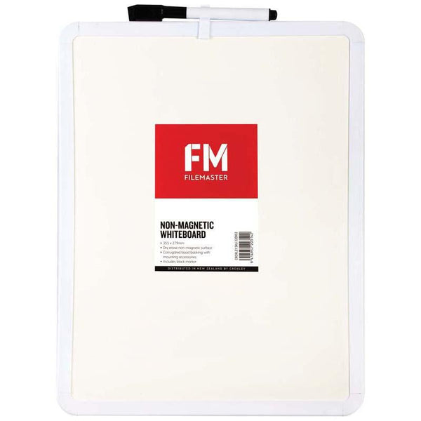 FM Whiteboard Non Magnetic Plastic Frame 279x355mm - Office Connect