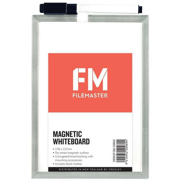 FM Whiteboard White Magnetic 127x178mm - Office Connect