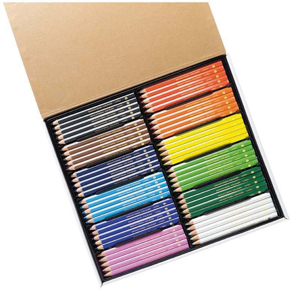 EC Triangular Pencils Pack 120 Washable Assorted Colours With Sharpener - Office Connect