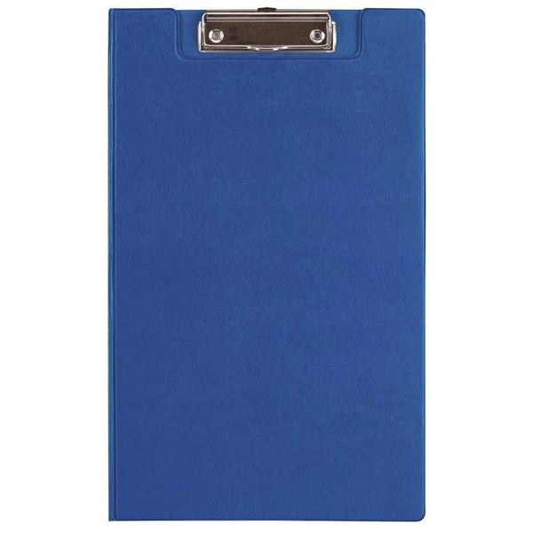 FM Clipboard Blue With Flap Foolscap - Office Connect