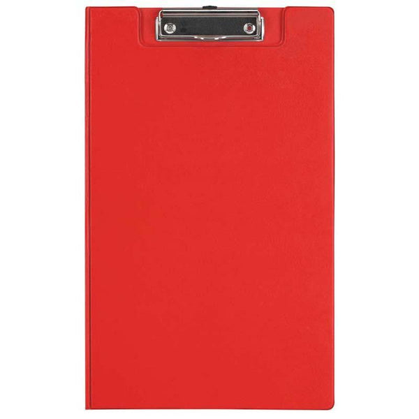 FM Clipboard Red With Flap Foolscap - Office Connect