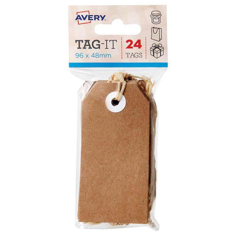 Avery Tag-It Brown Kraft Pack 24 - Office Connect