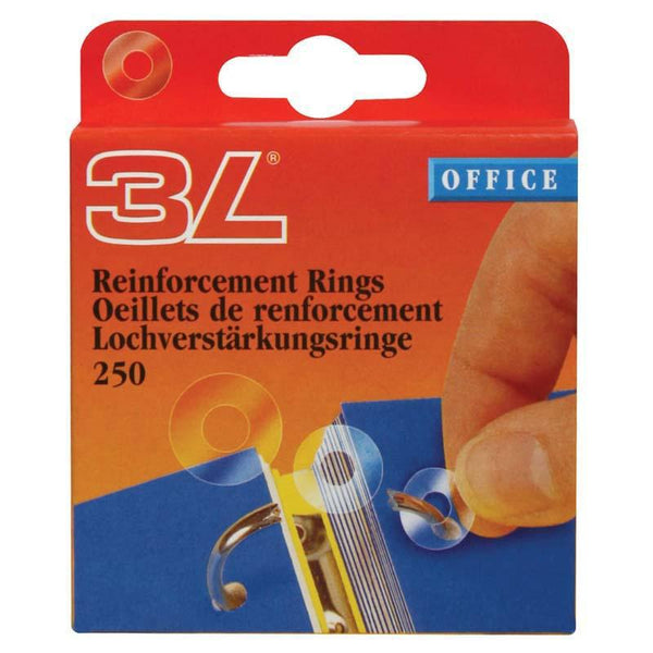3L Reinforce Rings Box 250 8214-250 - Office Connect