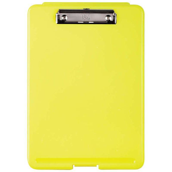 FM Document Clipboard Box Safety Yellow Flouro - Office Connect