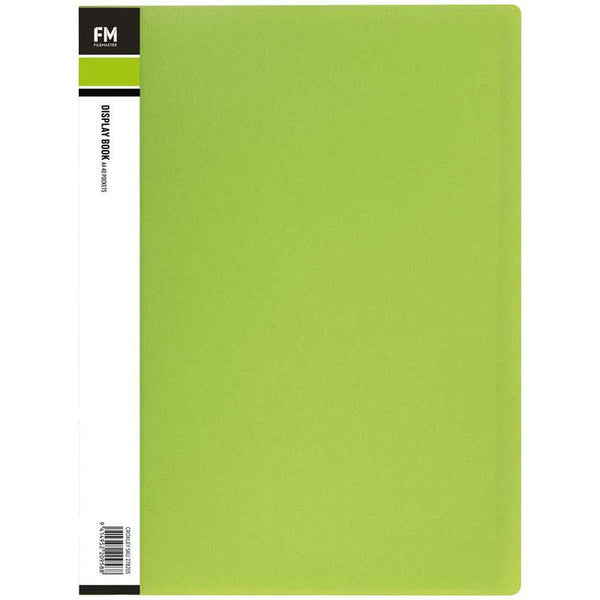 FM Display Book Vivid A4 Lime Green 40 Pocket - Office Connect