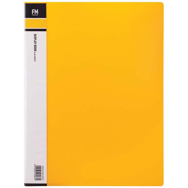 FM Display Book A4 Yellow 40 Pocket - Office Connect