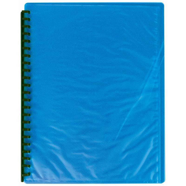 FM Display Book A4 Sky Blue Refillable 20 Pocket - Office Connect