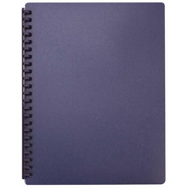 FM Display Book A4 Blue Refillable 20 Pocket - Office Connect