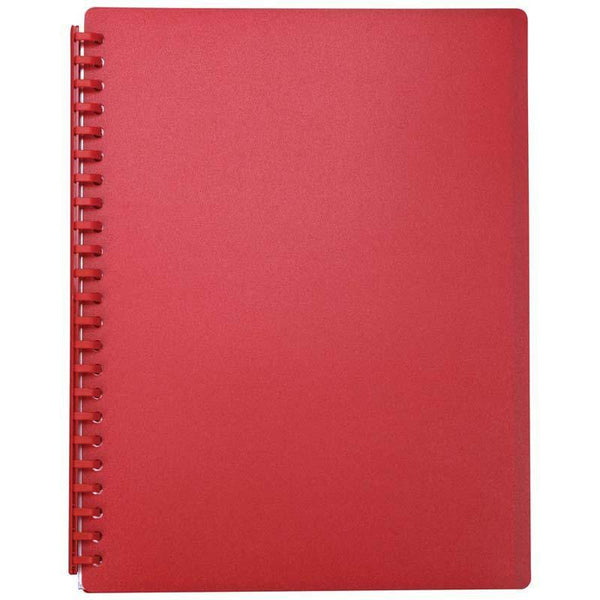 FM Display Book A4 Red Refillable 20 Pocket - Office Connect