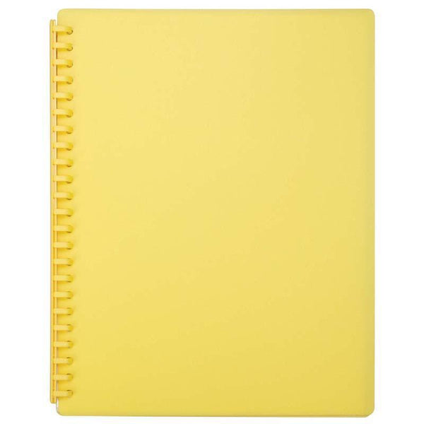 FM Display Book A4 Yellow Refillable 20 Pocket - Office Connect
