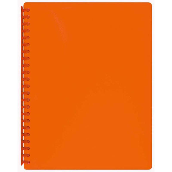 FM Display Book A4 Burnt Orange Textured Refillable 20 Pocket - Office Connect