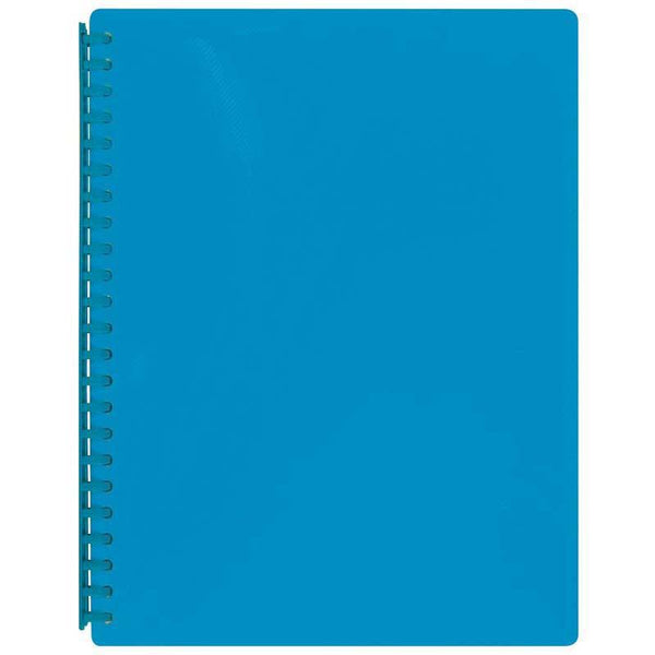 FM Display Book A4 Ice Blue Textured Refillable 20 Pocket - Office Connect