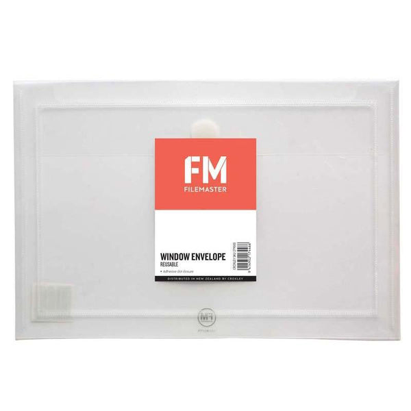 FM Envelope Reusable Clear Window Polyprop - Office Connect