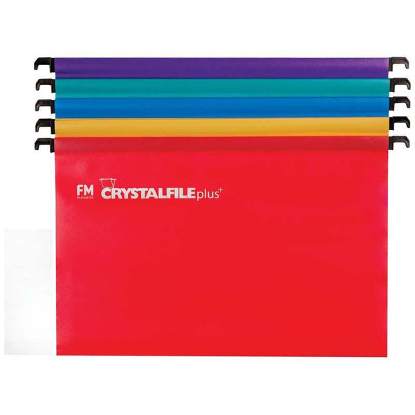 FM File Suspension Crystafile Assorted 10 Pack Plus Polyprop - Office Connect