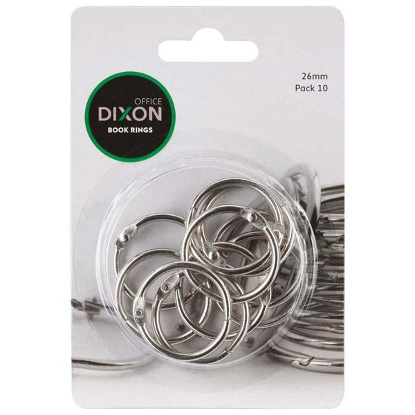 Dixon Book Rings 26mm 10 Pack - Office Connect