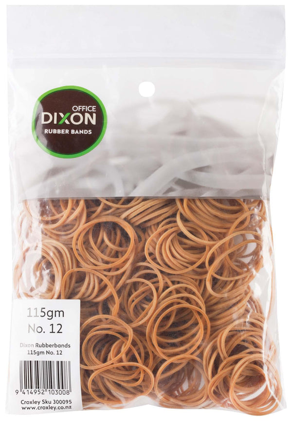 Dixon Rubber Bands 115gm No.12 - Office Connect
