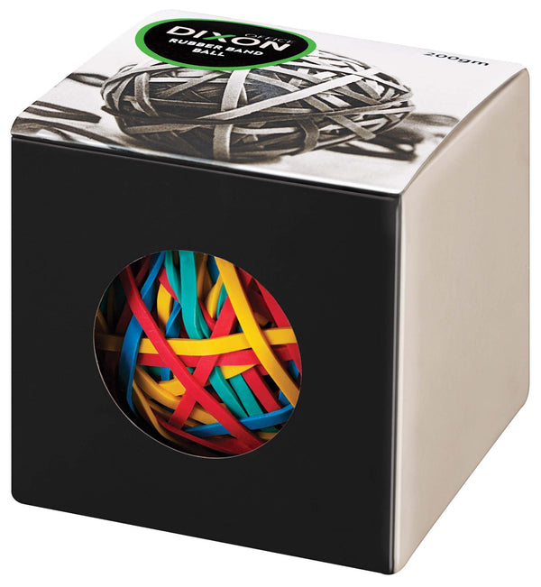 Dixon Rubber Band Ball 200gm Assorted Colours 70% Rubber Content - Office Connect