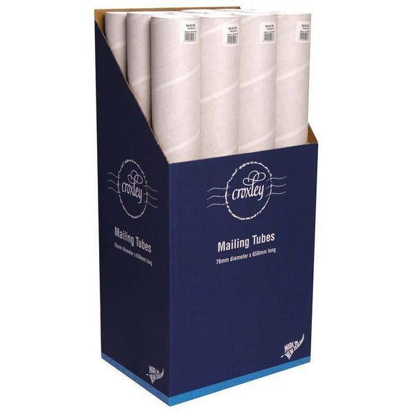 Croxley Mailing Tube 76D X1.5x650mm Plus End Caps - Office Connect