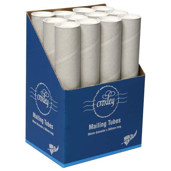 Croxley Mailing Tube 66D X1.5x385mm Plus End Caps - Office Connect