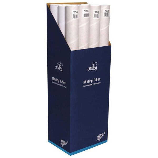 Croxley Mailing Tube 50D X1.5x600mm Plus End Caps - Office Connect