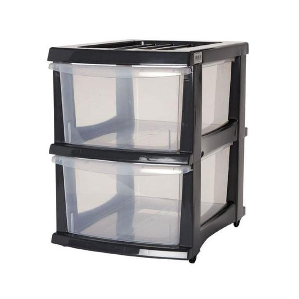 Taurus Storage Organiser 2 Drawer Grey - Office Connect