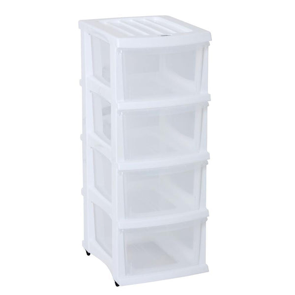 Taurus Storage Organiser 4 Drawer White - Office Connect