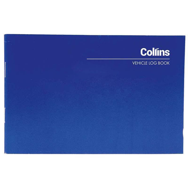 Collins Vehicle Log Book 40 Limp 24 Page 115x170mm - Office Connect