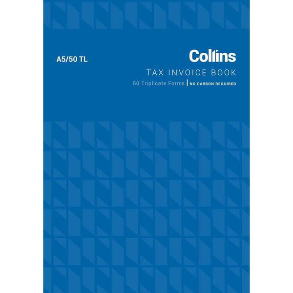 Collins Tax Invoice A5/50TL No Carbon Required - Office Connect