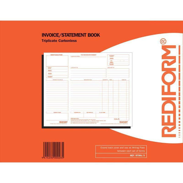 Rediform Book RTINV/3 Invoice Statement Triplicate 50 Leaf - Office Connect