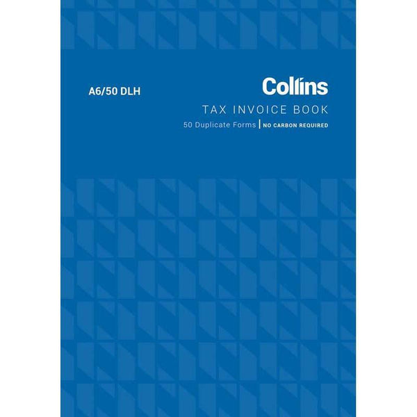 Collins Tax Invoice A6/50DLH Duplicate No Carbon Required - Office Connect
