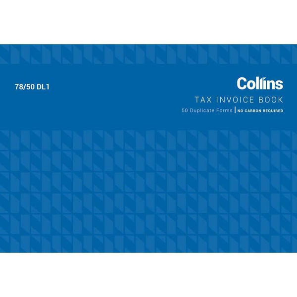Collins Tax Invoice 78/50DL1 Duplicate No Carbon Required - Office Connect