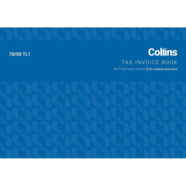 Collins Tax Invoice 78/50TL1 Triplicate No Carbon Required - Office Connect