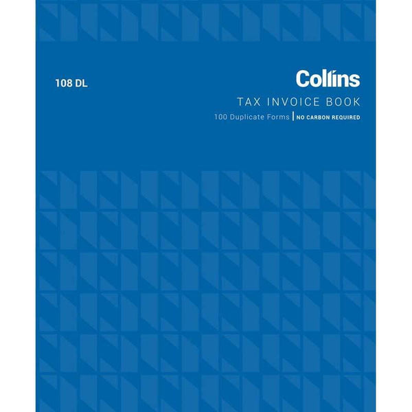 Collins Tax Invoice 108DL Duplicate No Carbon Required - Office Connect