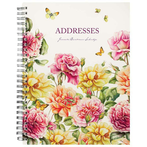 Milford J Brinkman Address Book Floral Wiro 230x167 144 Page - Office Connect