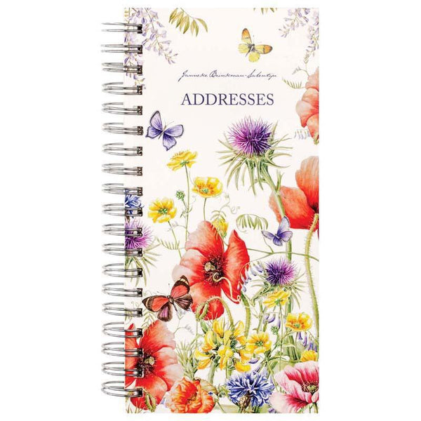 Milford J Brinkman Slim 170x80 Floral Note & Address Books Display Of 20 - Office Connect