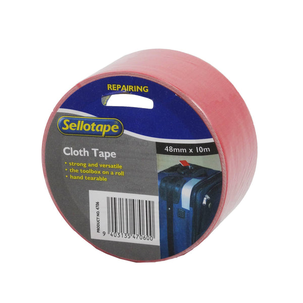 Sellotape 4706R Cloth Red 48mmx10m - Office Connect