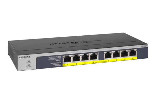 NETGEAR 8-Port PoE/PoE+ Gigabit Ethernet Unmanaged Switch - Office Connect