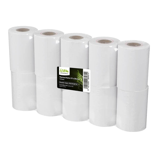 Icon Thermal Roll 57x38mm Pack 10 - Office Connect