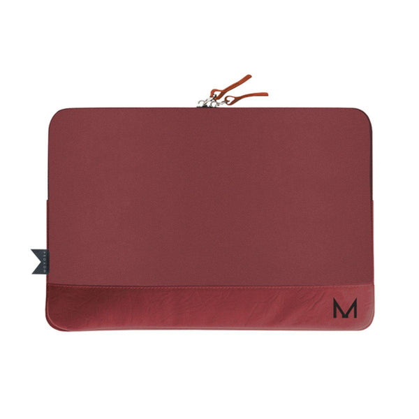 "MOYORK CLOAK 13-14"" Charging Sleeve - Merlot Leather - Office Connect"