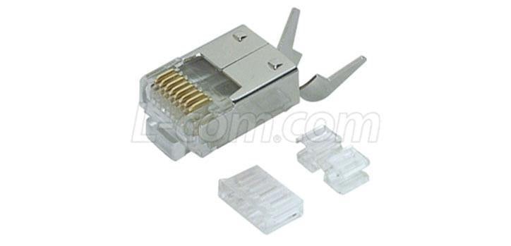 Cat6 Shielded RJ45 Plug with Strain Relief - 50PK - Office Connect