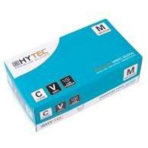 Hytec Clear Vinyl Low Powder Disposable Gloves