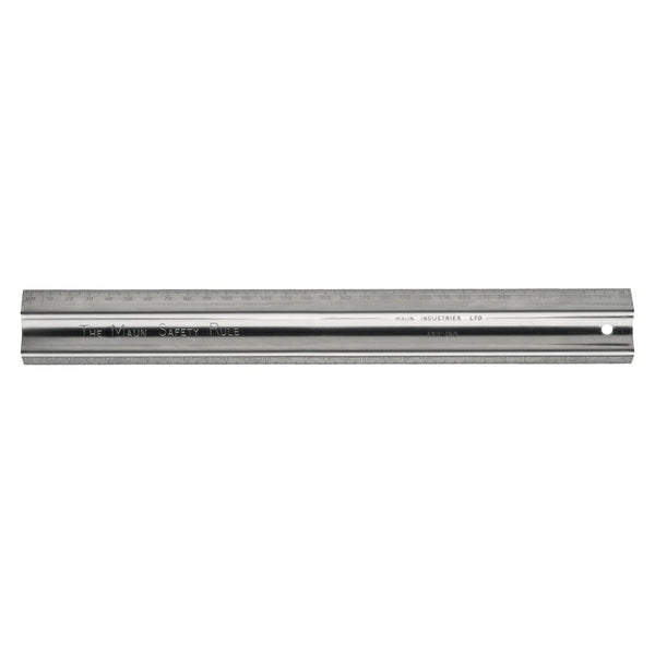 Maun Stainless Steel Safety Rule 30cm - Office Connect