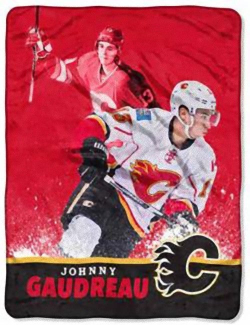 Johnny Gaudreau Player Micro Throw Blanket