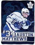 Auston Matthews Player Micro Throw Blanket