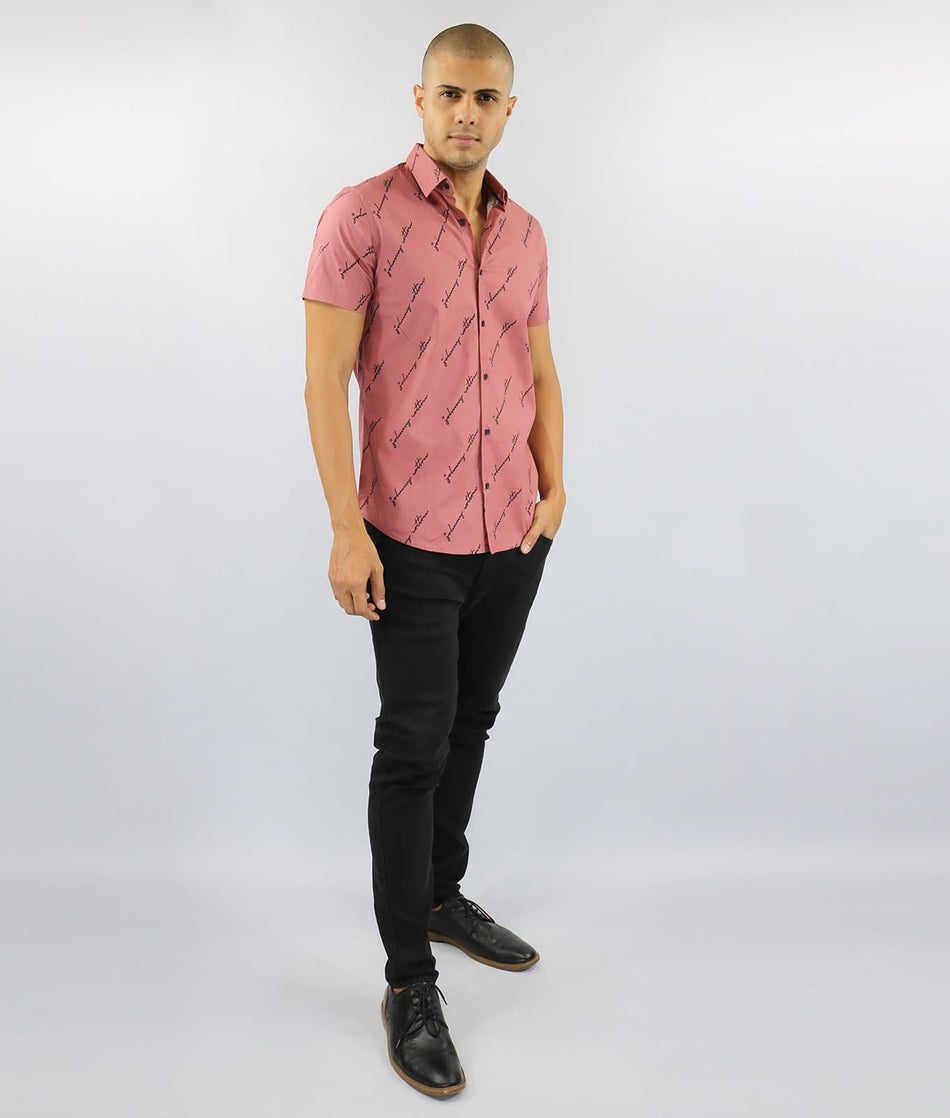 CAMISA MC ESTAMPADA MARCA