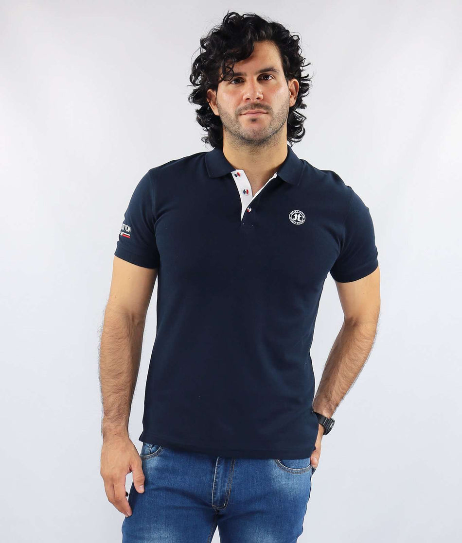 POLO MC ESTAMPADO MARCA