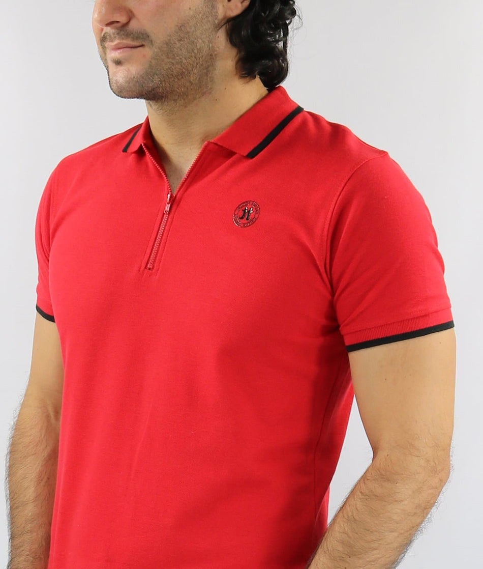 Polo con zipper