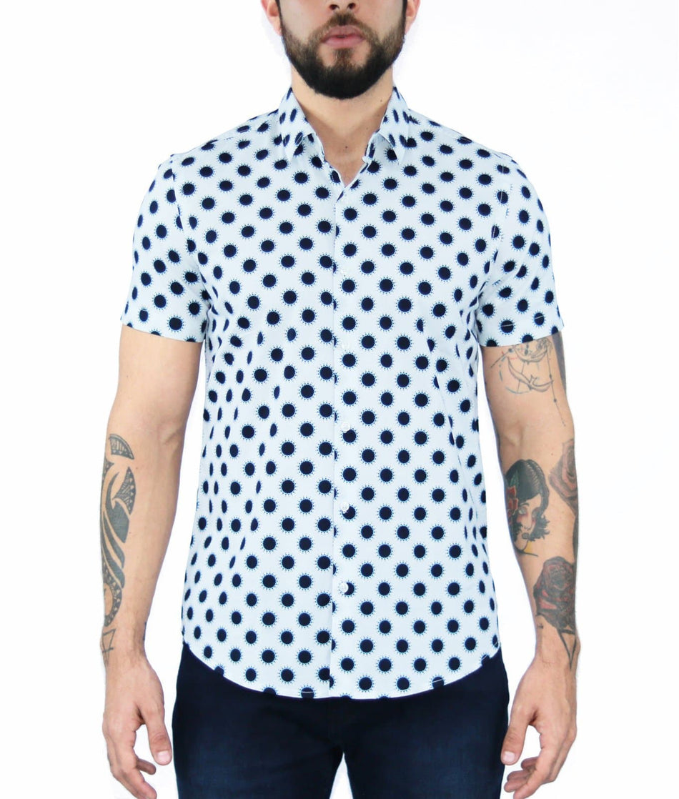 CAMISA MC ESTAMPADA ABSTRACTO