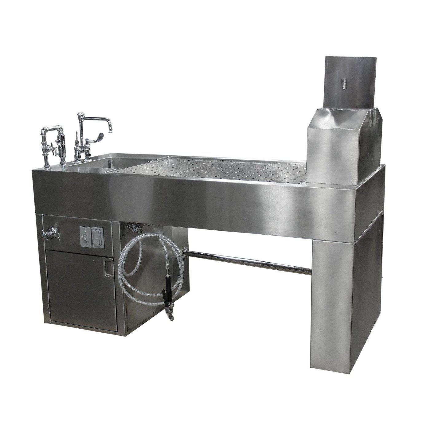 Downdraft Necropsy Workstation-Necropsy Dissection Tables-Mortech Manufacturing Company Inc. Quality Stainless Steel Autopsy, Morgue, Funeral Home, Necropsy, Veterinary / Anatomy, Dissection Equipment and Accessories