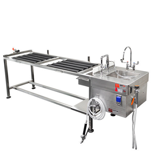 Side Loading Autopsy Table with Rollers